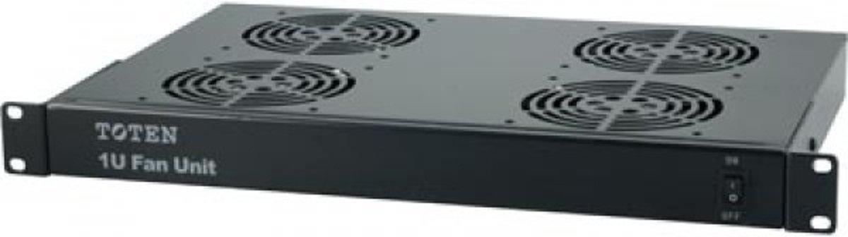 Basic 1U ventilator set met 4 stuks fan 19 inch, zwart kopen