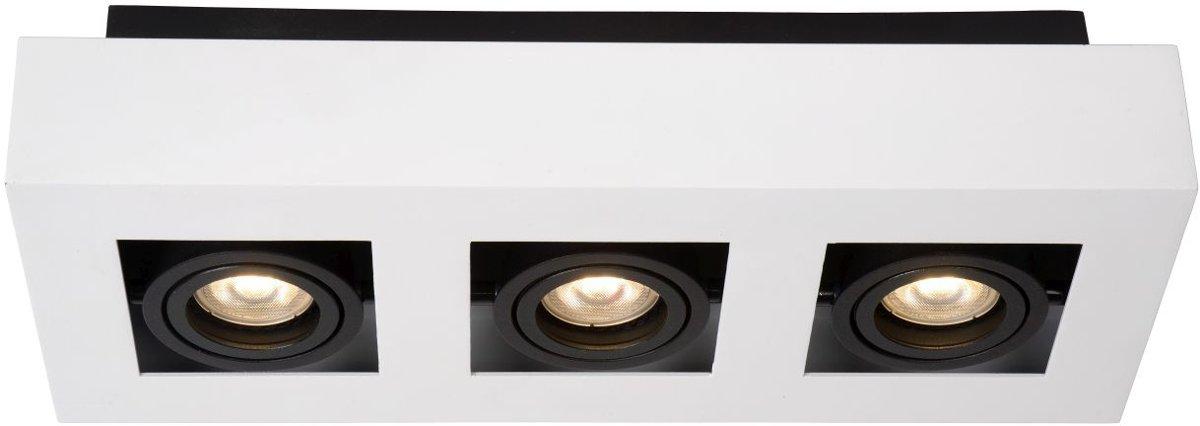 Lucide XIRAX - Plafondspot - LED Dimb. - GU10 - 3x5W 3000K - Wit kopen