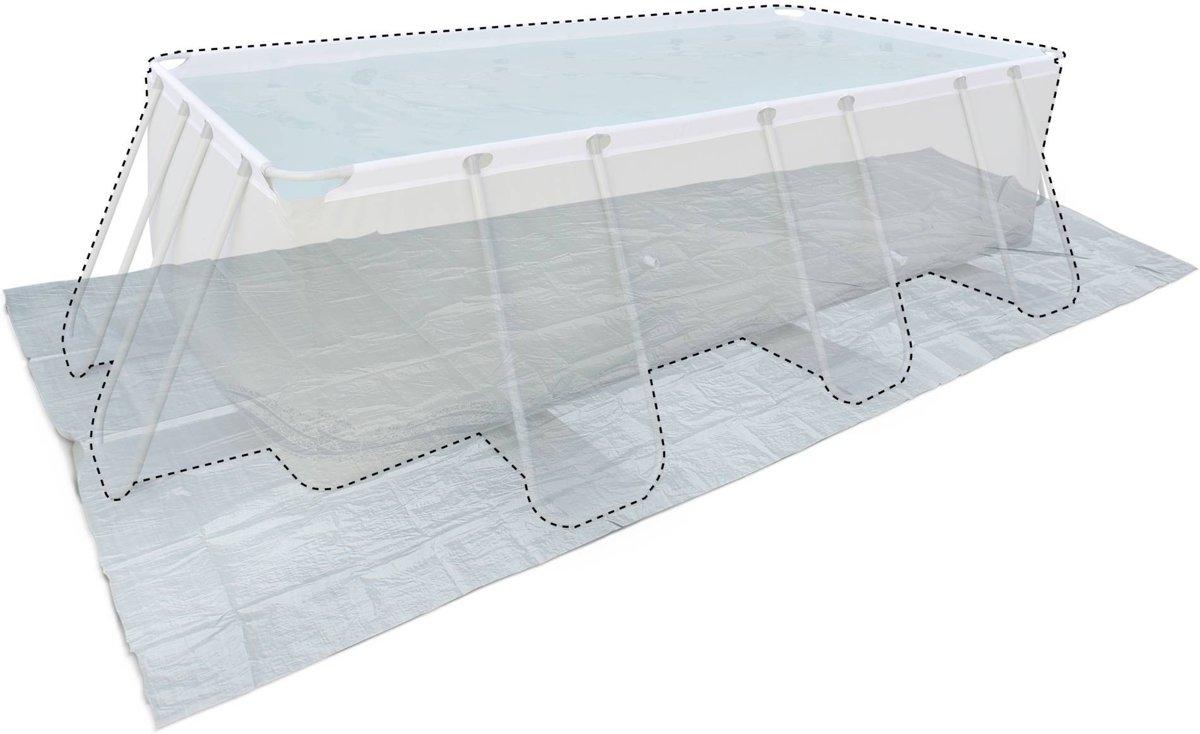 Vloermat voor zwembad 400 x 200 cm grijs