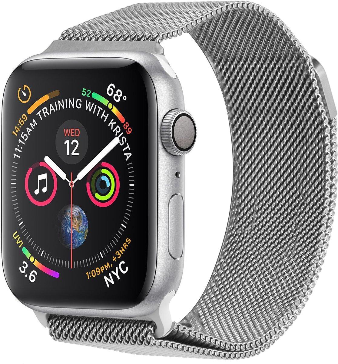Zilver Milanese design bandje voor de Apple Watch 44 mm / 42 mm kopen
