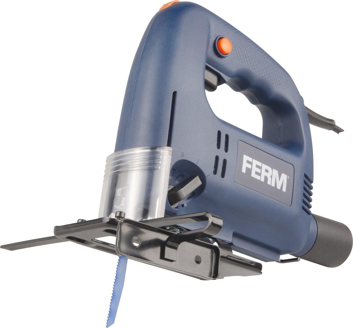 FERM JSM1023 Decoupeerzaag 570W - 3+1 pendelposities - Parallelgeleider - Inclusief 4 zaagbladen