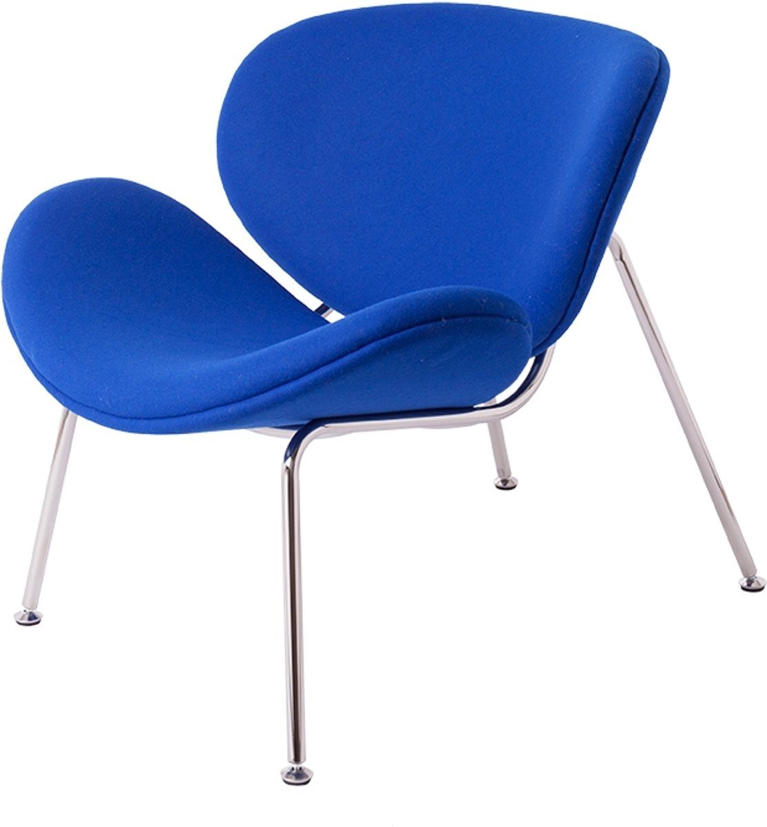lounge stoel Orange slice klein donkerblauw kopen
