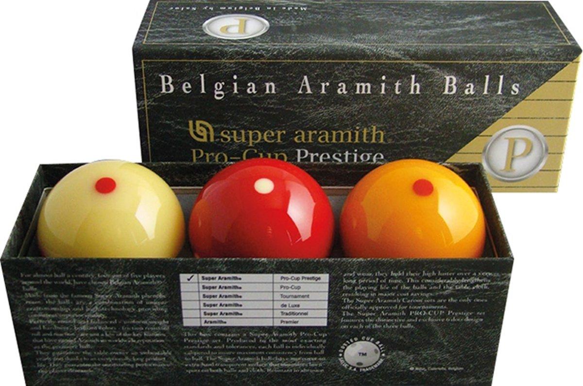 Biljart ballen set Super Aramith Pro Cup Prestige 61,5mm