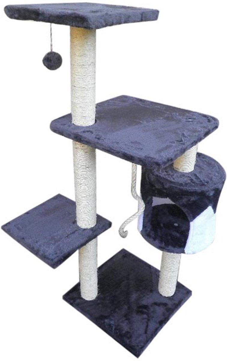 Topmast Krabpaal  MONTREAL Grijs Wit 40 * 40 * 112 cm