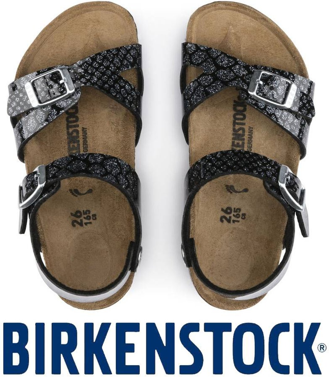 Birkenstock Rio Magic Snake Black Silver Sandalen Kids Maat 24