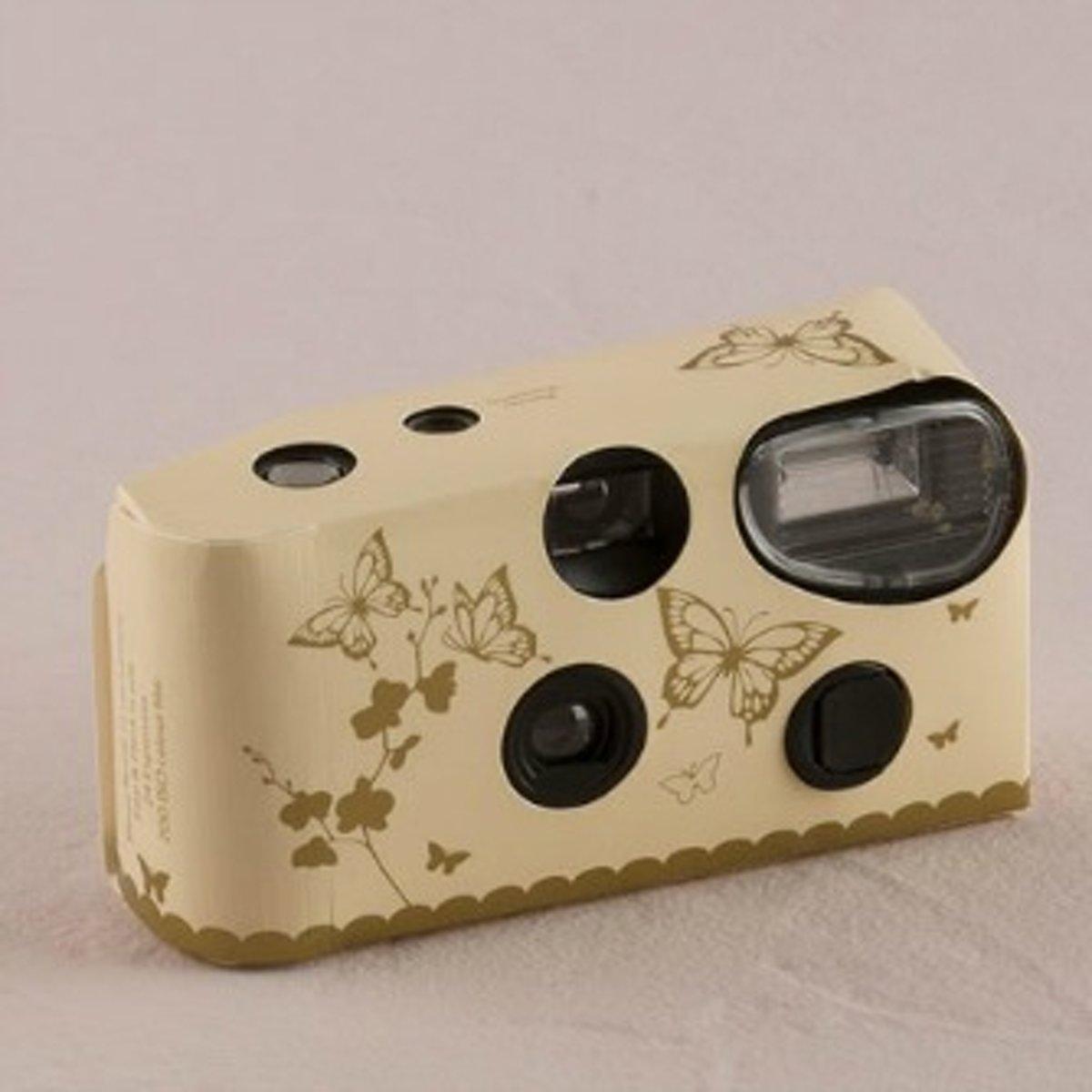 Weddingstar Wegwerpcamera gold butterfly dream - OP = OP kopen