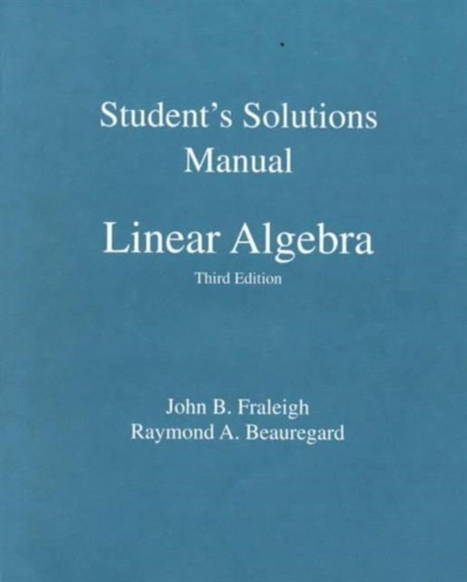 bol.com | Student Solution Manual for Linear Algebra | 9780201526776 | John  B. Fraleigh | Boeken