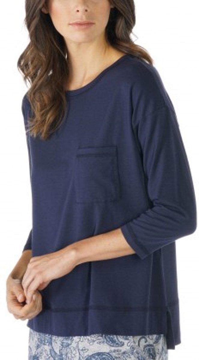 Mey Dames Night2Day Demi Shirt ¾ Mouw 16806 - Blauw - S kopen