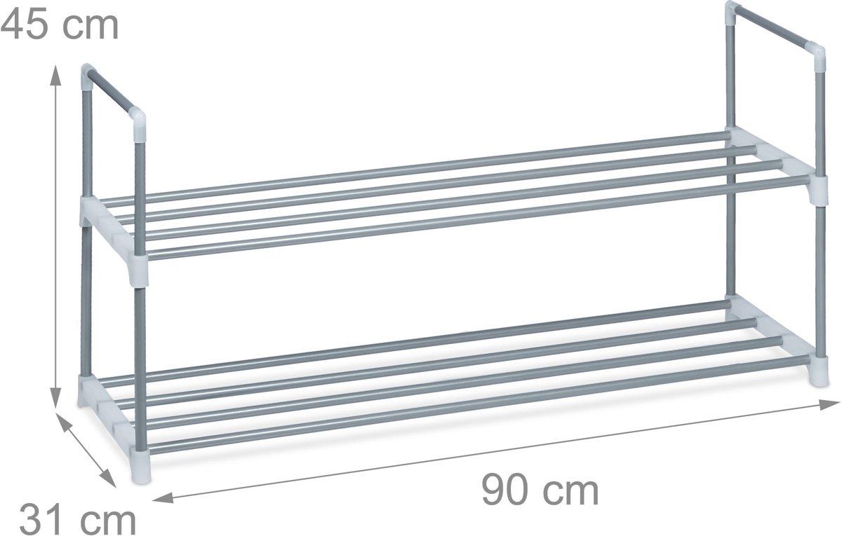 Schoenenrek 55 Cm Breed.Bol Com Relaxdays Schoenenrek Metaal 2 4 Planken Robuust