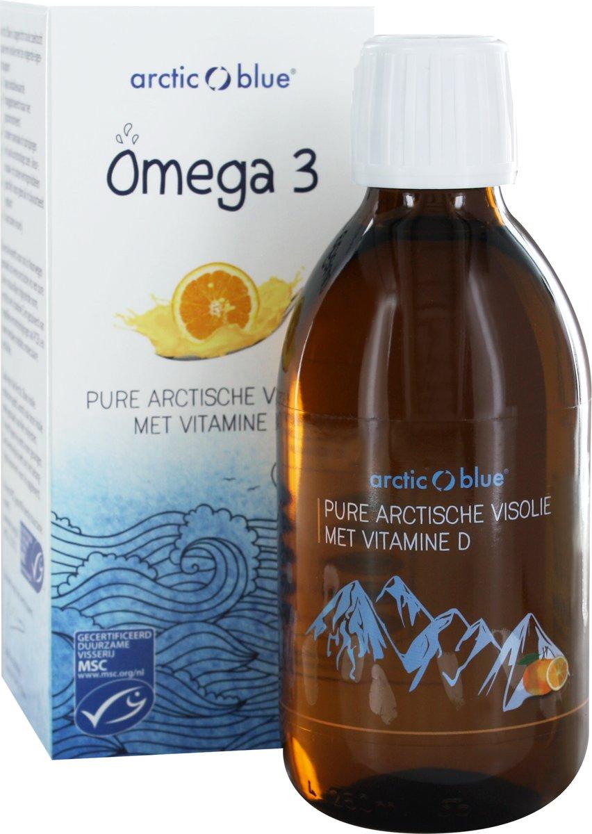 Foto van Arctic Blue Omega 3 Pure Arctische Visolie met Vitamine D 250 ml