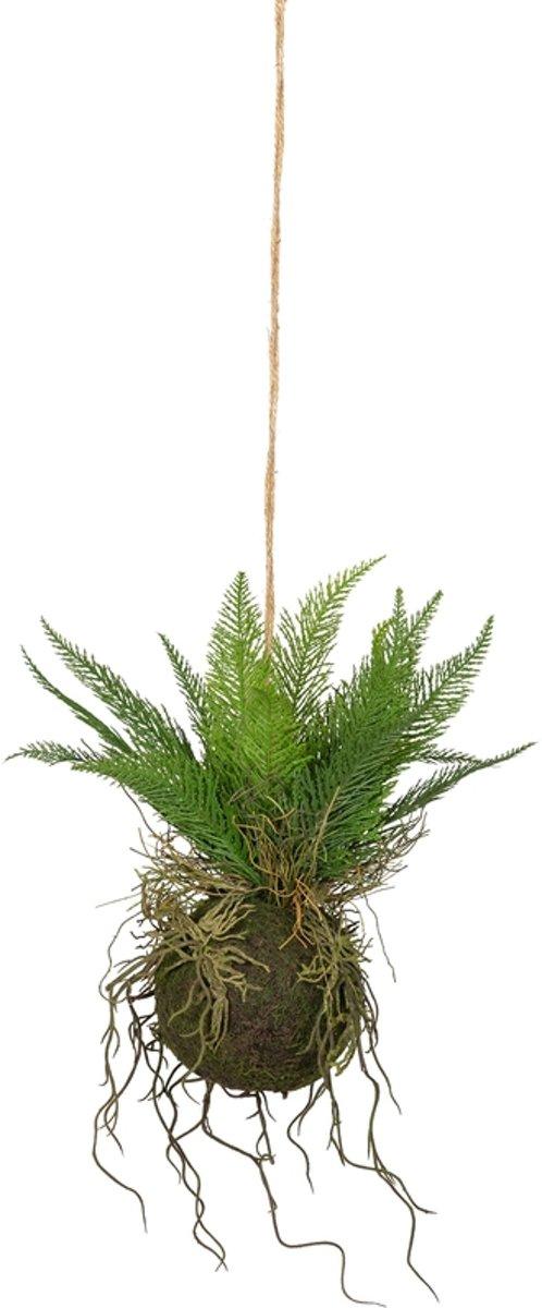 Woood Varen Hangende Kunstplant Groen 30 cm kopen