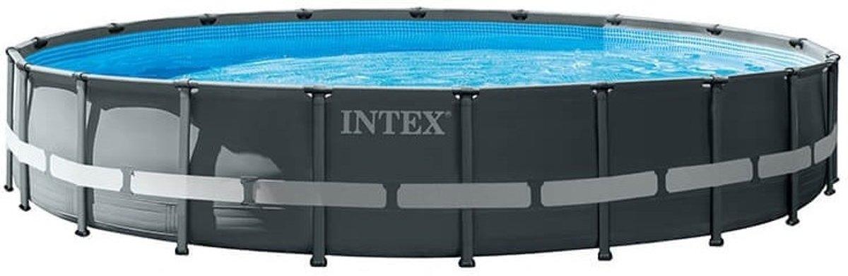 Intex Opzetzwembad Met Accessoires Ultra Xtr Frame 610 X 122 Cm Antraciet
