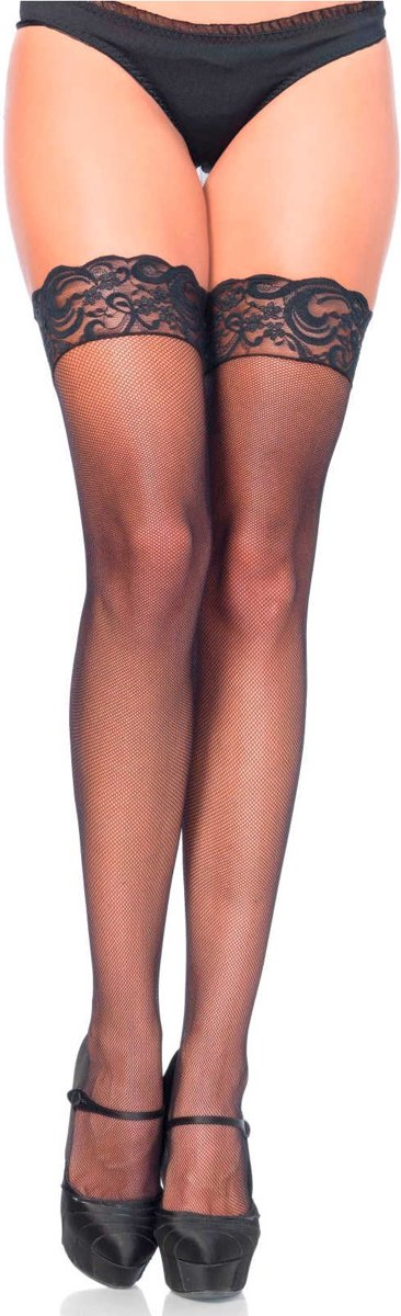 Leg Avenue Hold-up Kousen - zwart - one size