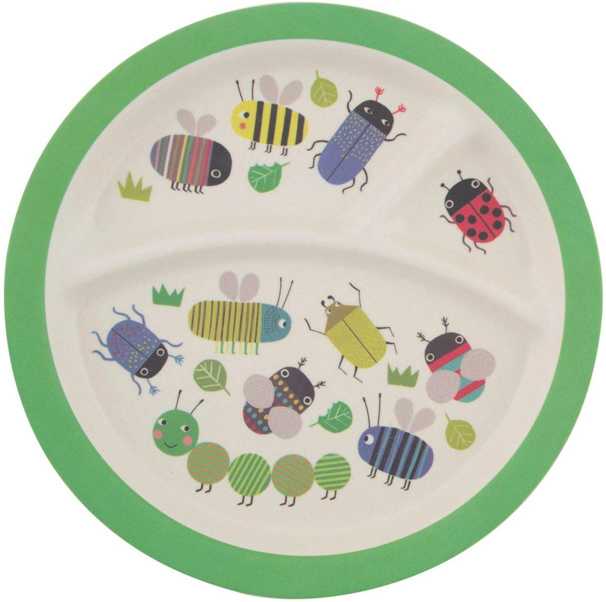 Busy Bugs Kid's Plate Kinderbord Bordje Servies Baby Geboorte
