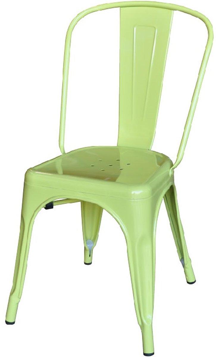 terrasstoel Tolix style terrasstoel mat lichtgroen kopen