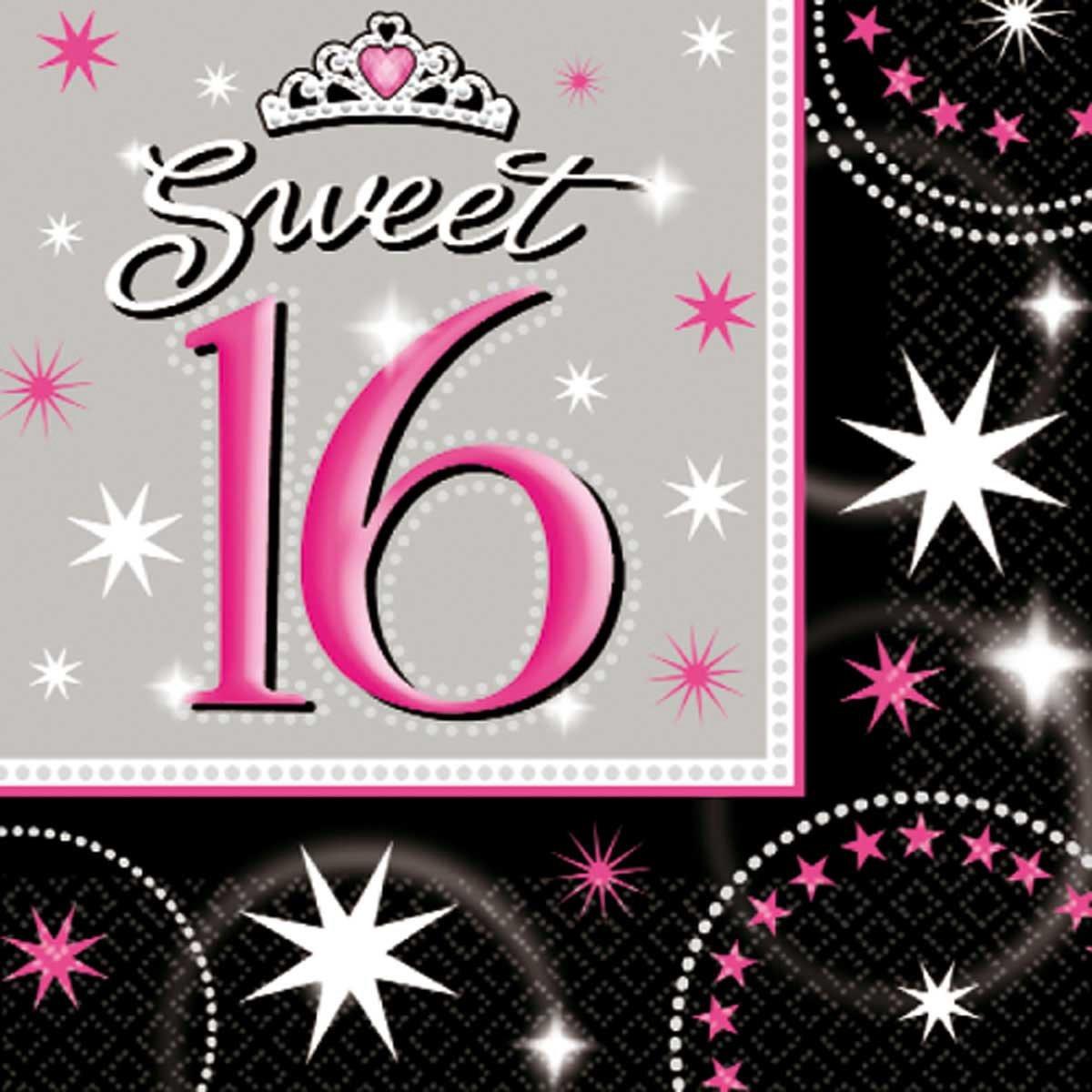 Sweet 16 Servetten - 16 stuks