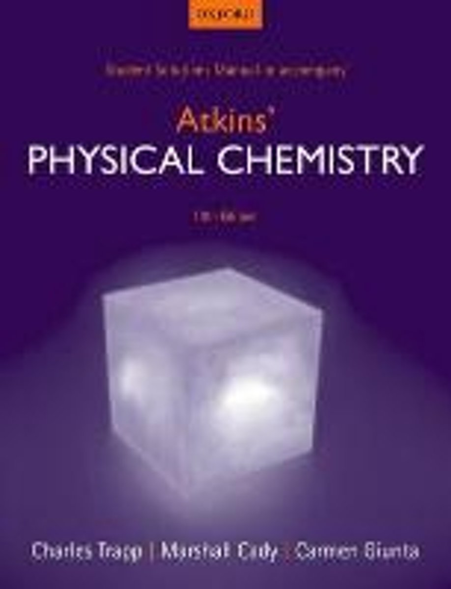 bol.com   Student Solutions Manual to accompany Atkins' Physical Chemistry  10th edition  .