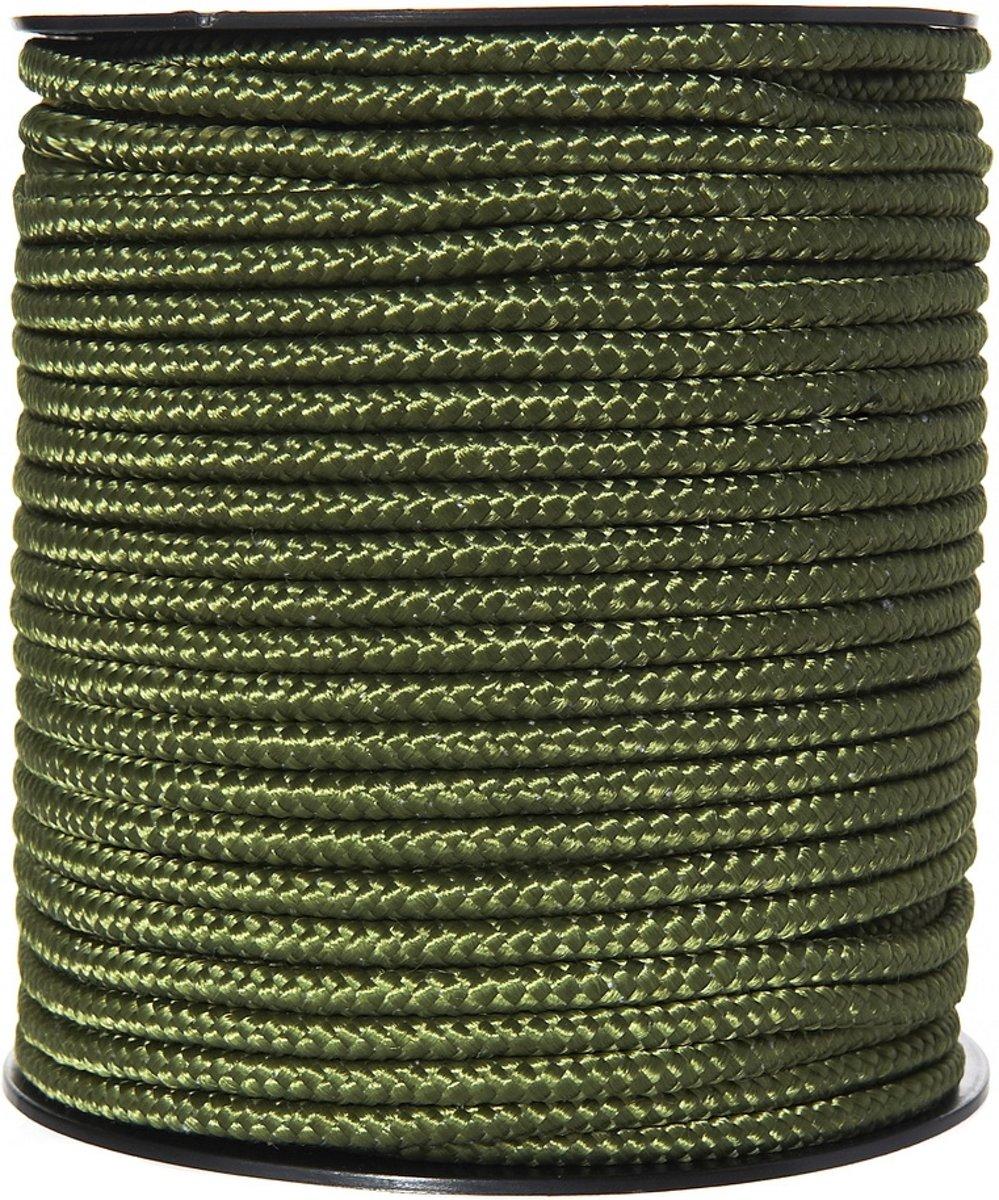 Fosco Touw op rol 60mtr 5mm nylon groen