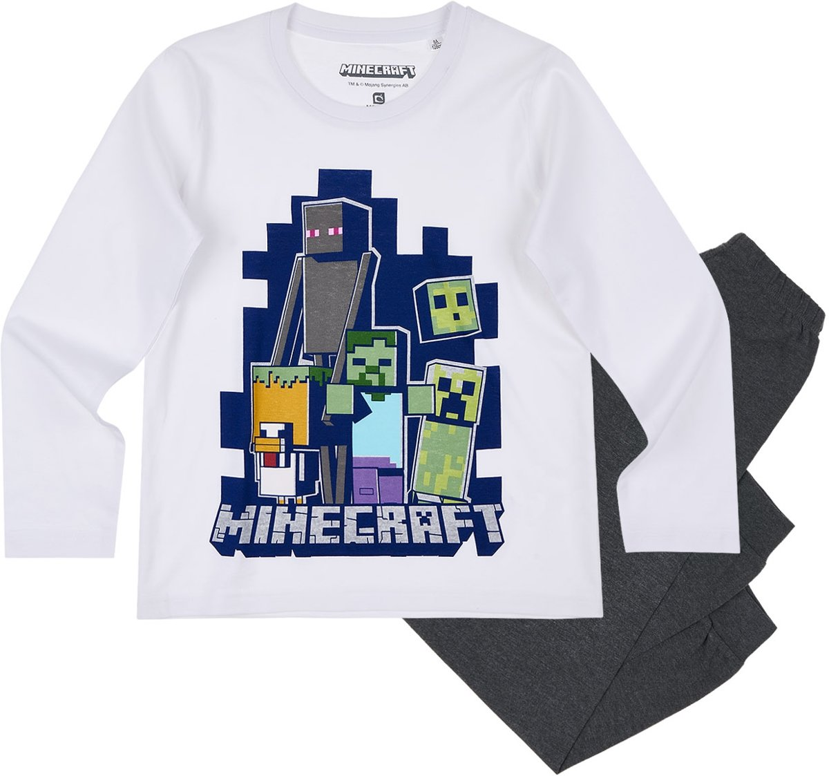 grande remise de 2019 une grande variété de modèles code promo bol.com | Minecraft Pyjama - wit - Maat 128