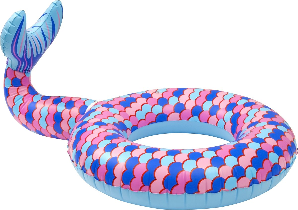 Enjoy Summer Opblaasbare Zeemeerminstaart 85 Cm Blauw