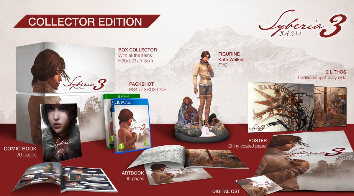 Syberia 3 Collector's Edition PlayStation 4