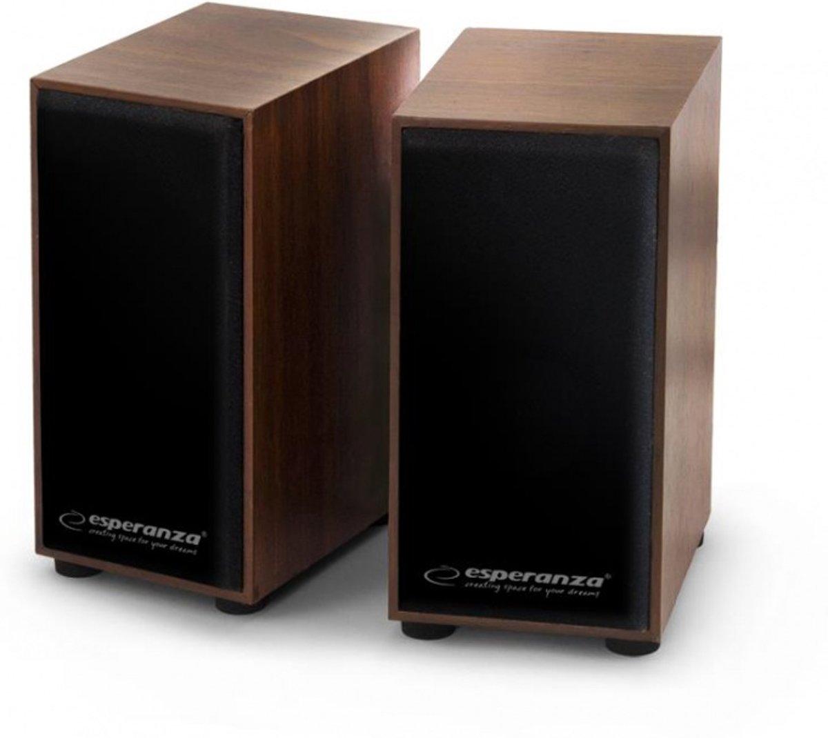 Esperanza Stereo Speakers 2.0 Folk - met houten behuizing kopen