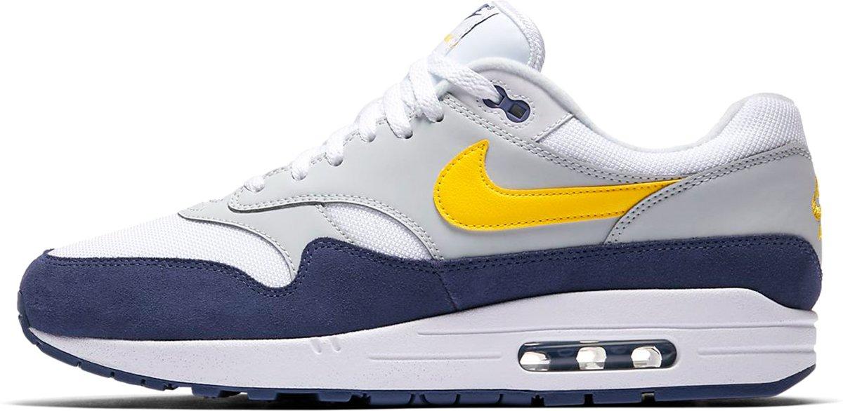 Nike Air Max 1 schoenen wit blauw geel