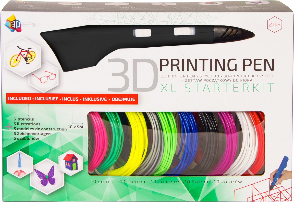 3D Pen XL Starterspakket |Zwart| - 3Dandprint