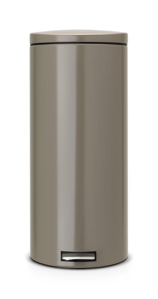Brabantia Motioncontrol Pedaalemmer 30 L.Pedaalemmer 30 Liter Met Kunststof Binnenemmer Motion Control Taupe