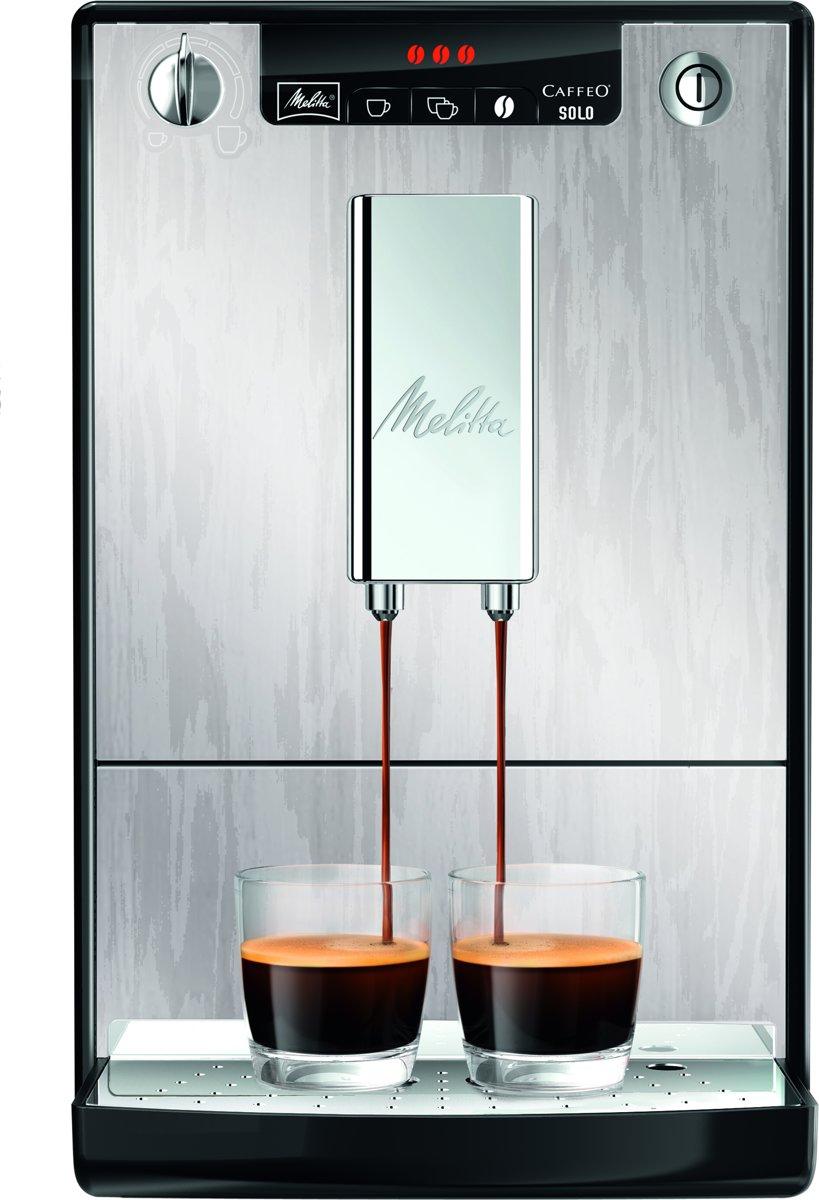 Melitta Caffeo Solo Limited Edition E950-111 - Espressomachine - Zilver met Nerven kopen