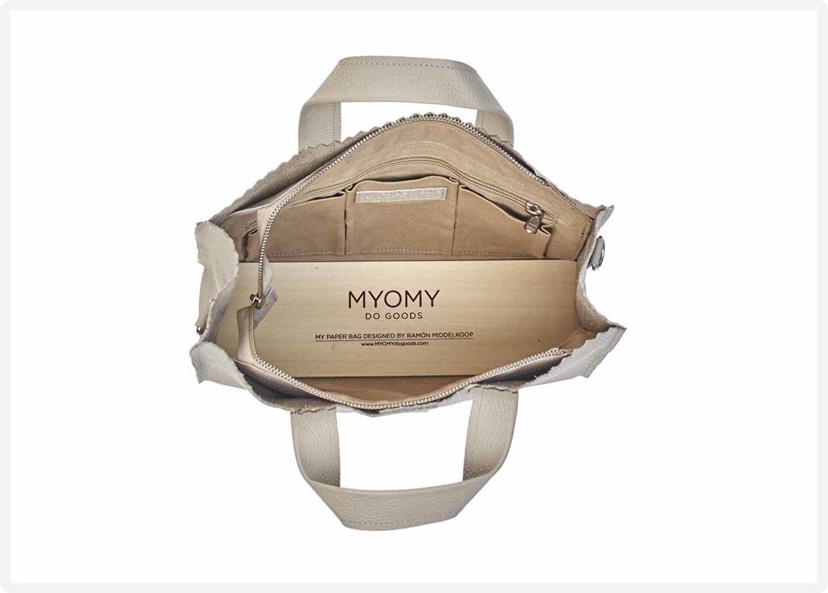 eb3767bc72f bol.com | MYOMY - My Paper Bag Handbag Crossbody - crossbody tas - Rambler  grey