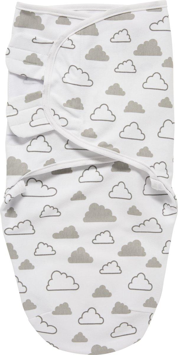 SwaddleMeyco Inbakerdoek - 0-3 maanden - Little Clouds grijs