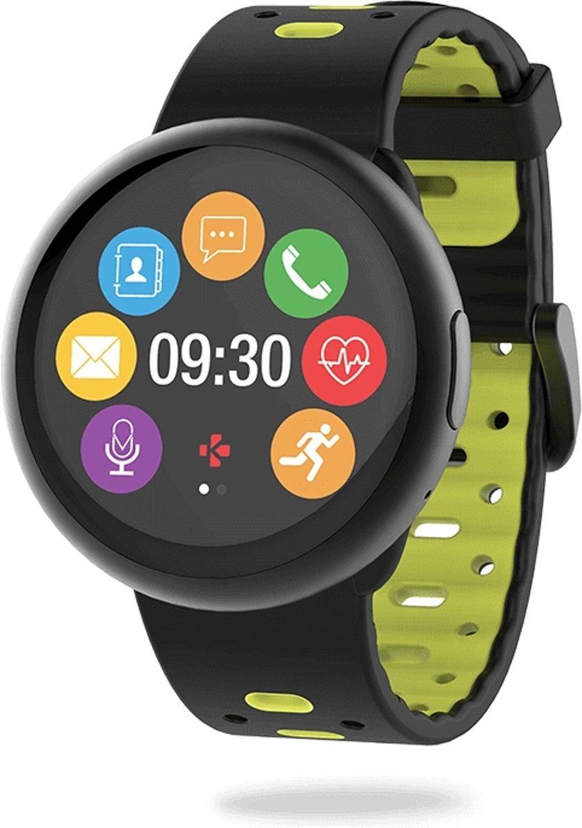 MyKronoz ZeRound2 HR premium smartwatch - zwart geel kopen