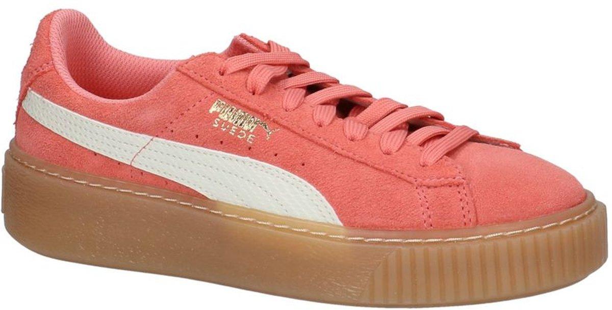4d846b3f48a bol.com   Roze Lage Sportieve Sneakers Puma Suede Platform