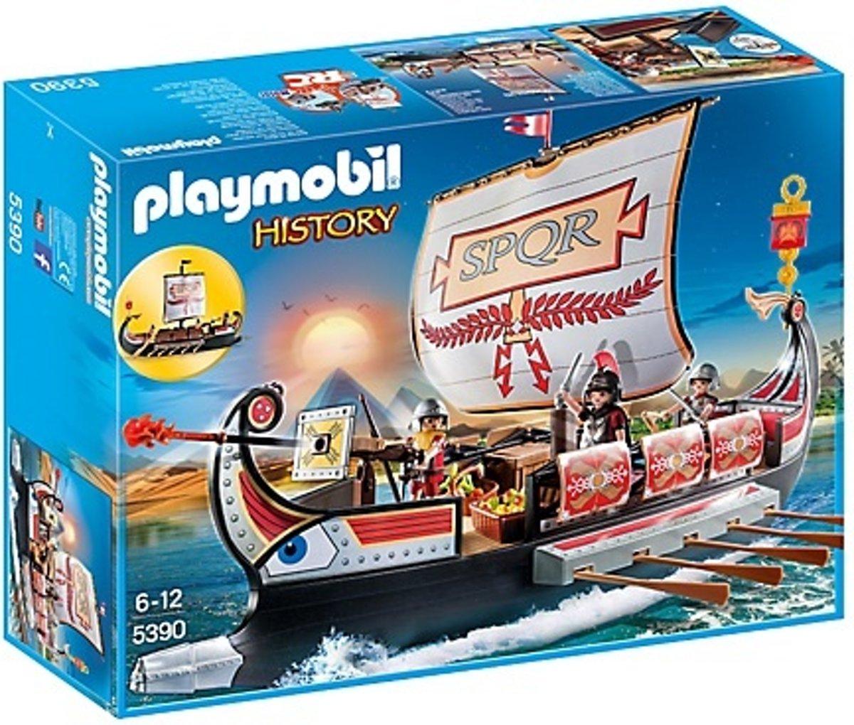Playmobil Slaapkamer Van De Ouders 5331.Playmobil History Romeins Galeischip 5390 Hobbyenspeelgoed Nl