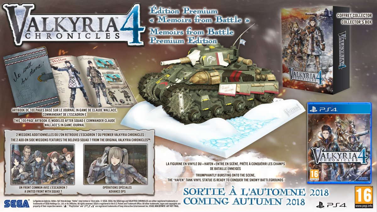 Valkyria Chronicles 4 Memoirs from Battle Collector Edition PlayStation 4