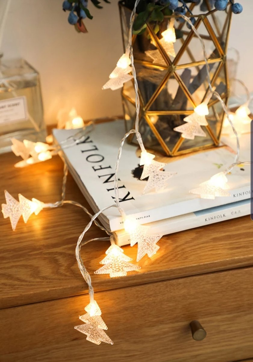 Led lampjes slinger - Kerstboompjes - 3 meter - 20 lichtjes - Warm white - Kerst - Winter - Lichtsnoer kopen