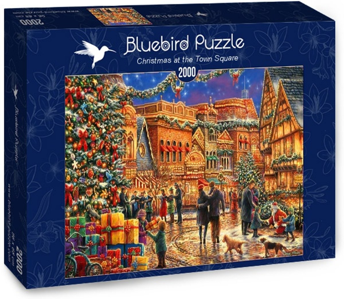 Christmas at the Town Square legpuzzel 2000 stukjes