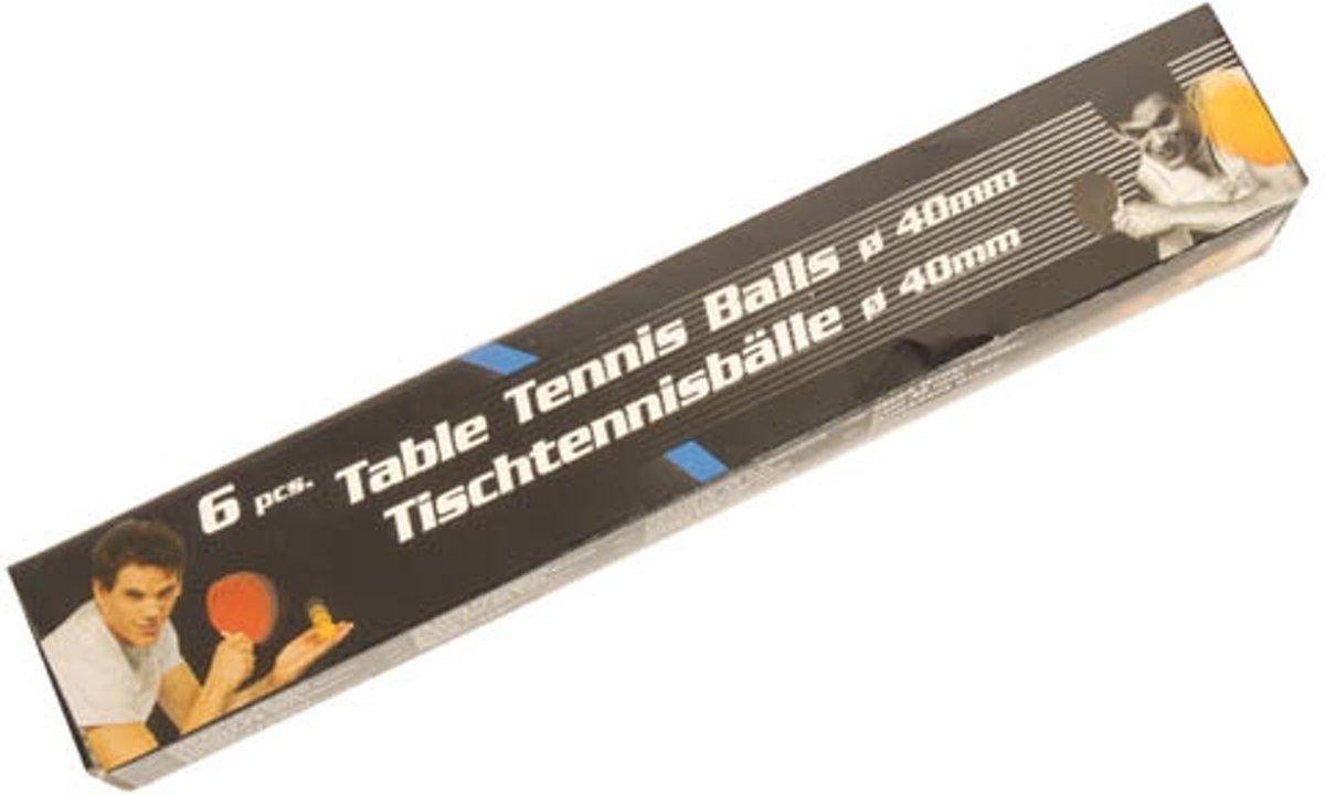 Tafeltennis Ballen 6 stuks