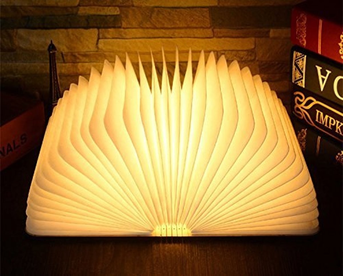 Bol parya led book boek lamp luxe incl speaker kleur