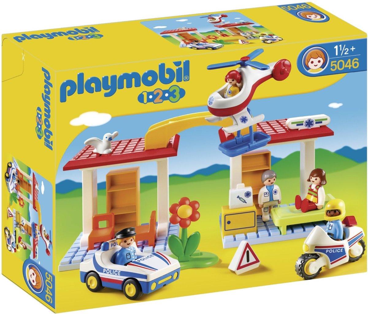 1-2-3-PLAYMOBIL 5046 POLICE & AMBULANCE