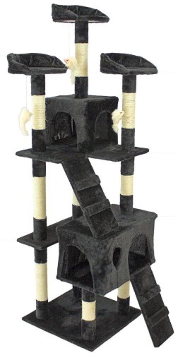Topmast Krabpaal KIM zwart 50 * 50 * 170 cm