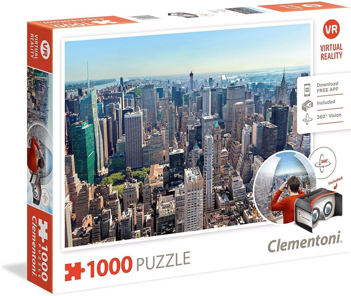 Clementoni - Puzzel - New York - Virtual reality - 1000st. kopen
