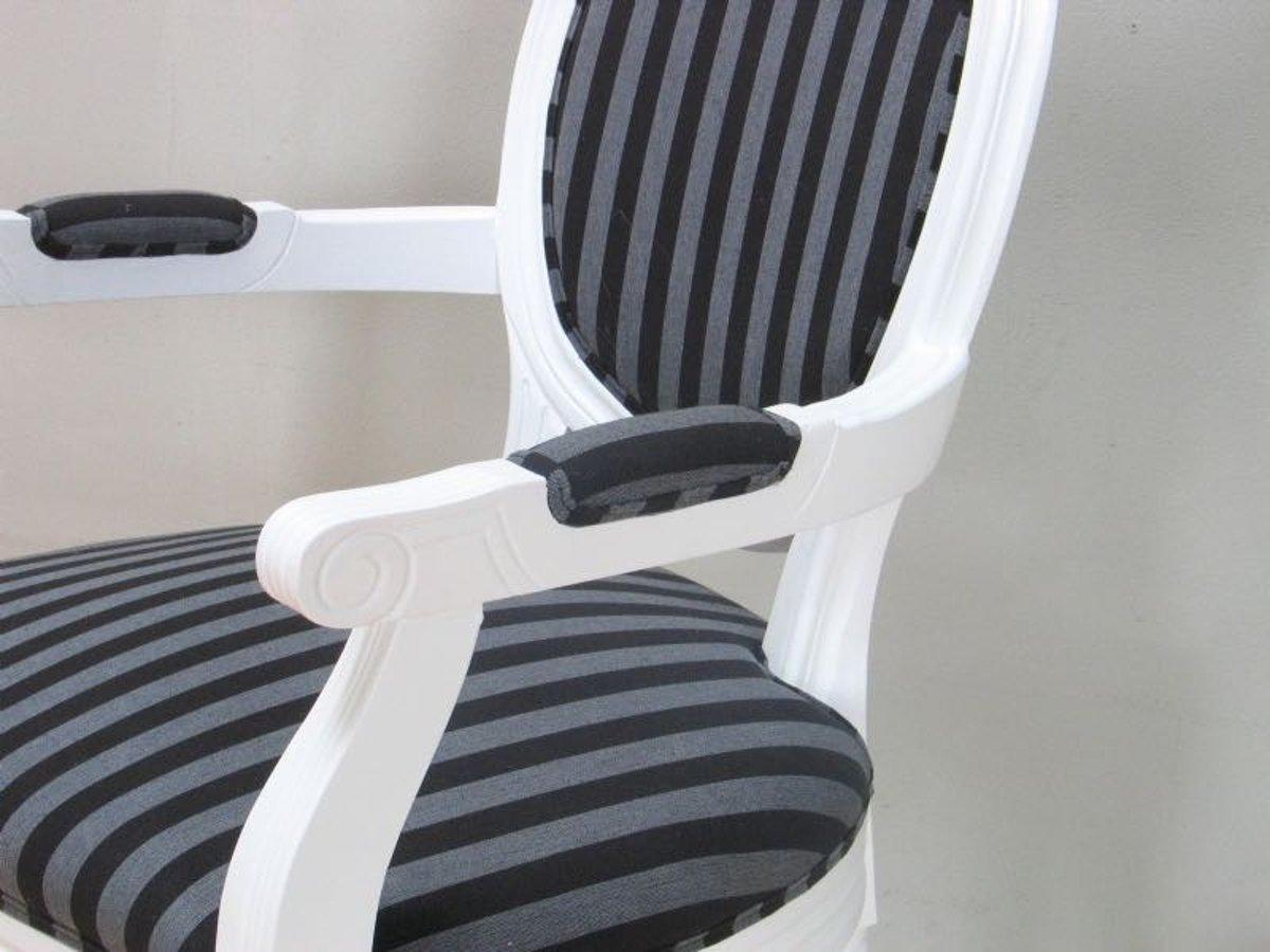 Zwarte Barok Stoel : Bol.com rococo barok stoel met armleuning zwart wit