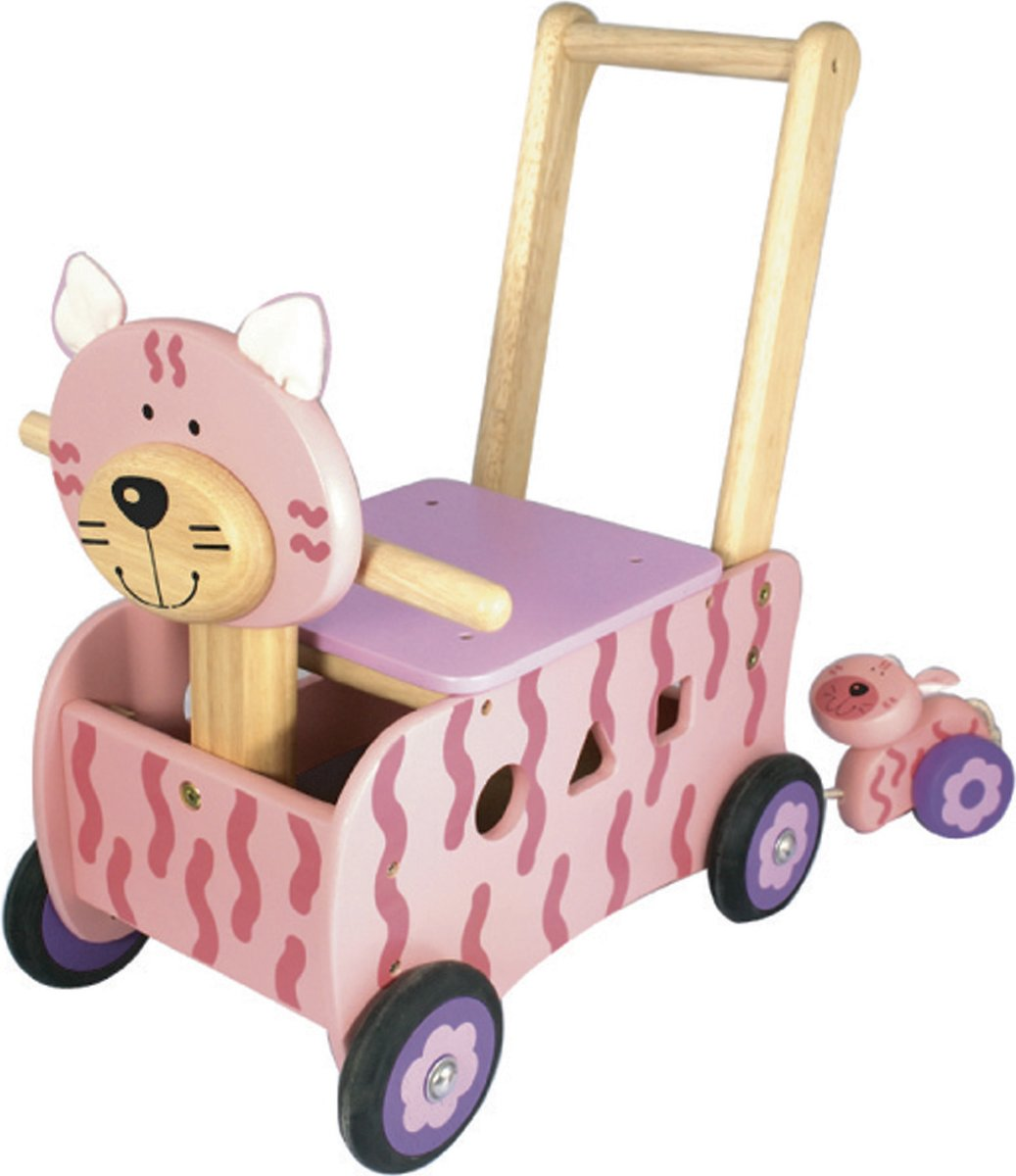 I'm Toy Loop/duwwagen Poes - Roze