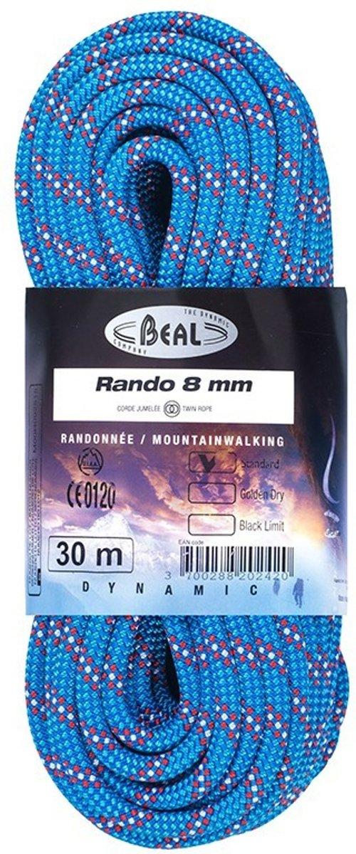 Beal Rando 8.0 tweelingtouw voor lastige passages 30 meter
