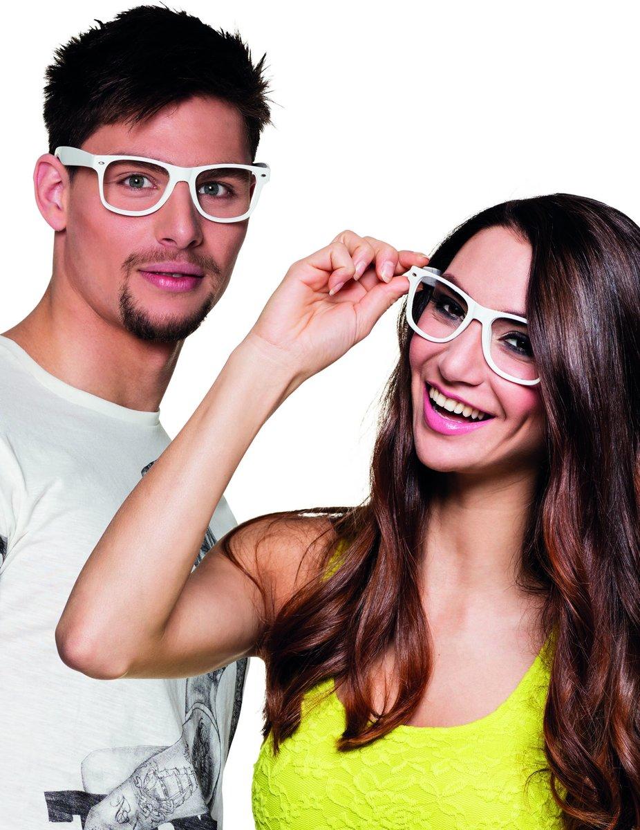 4 witte brillen voor volwassenen - Verkleedattribuut kopen