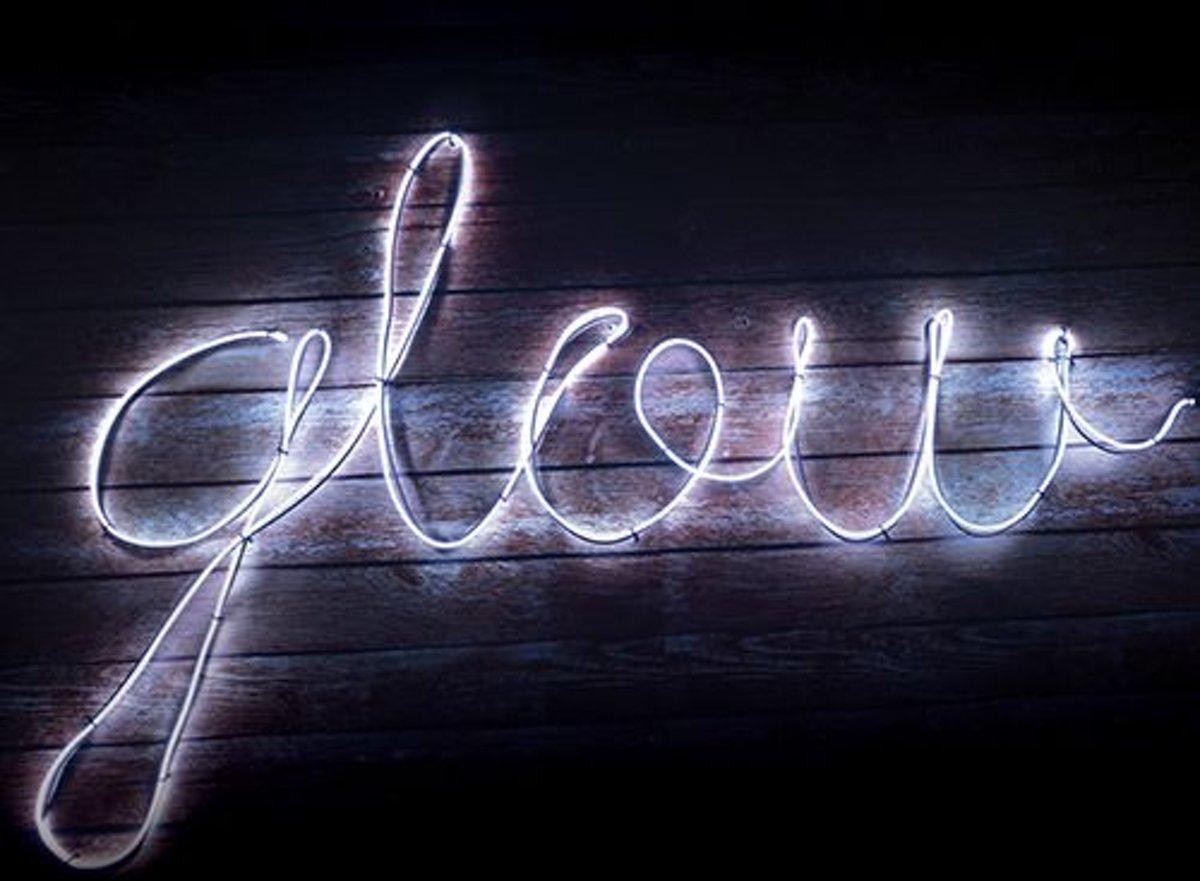 Maak je eigen Neon effect light - Wit