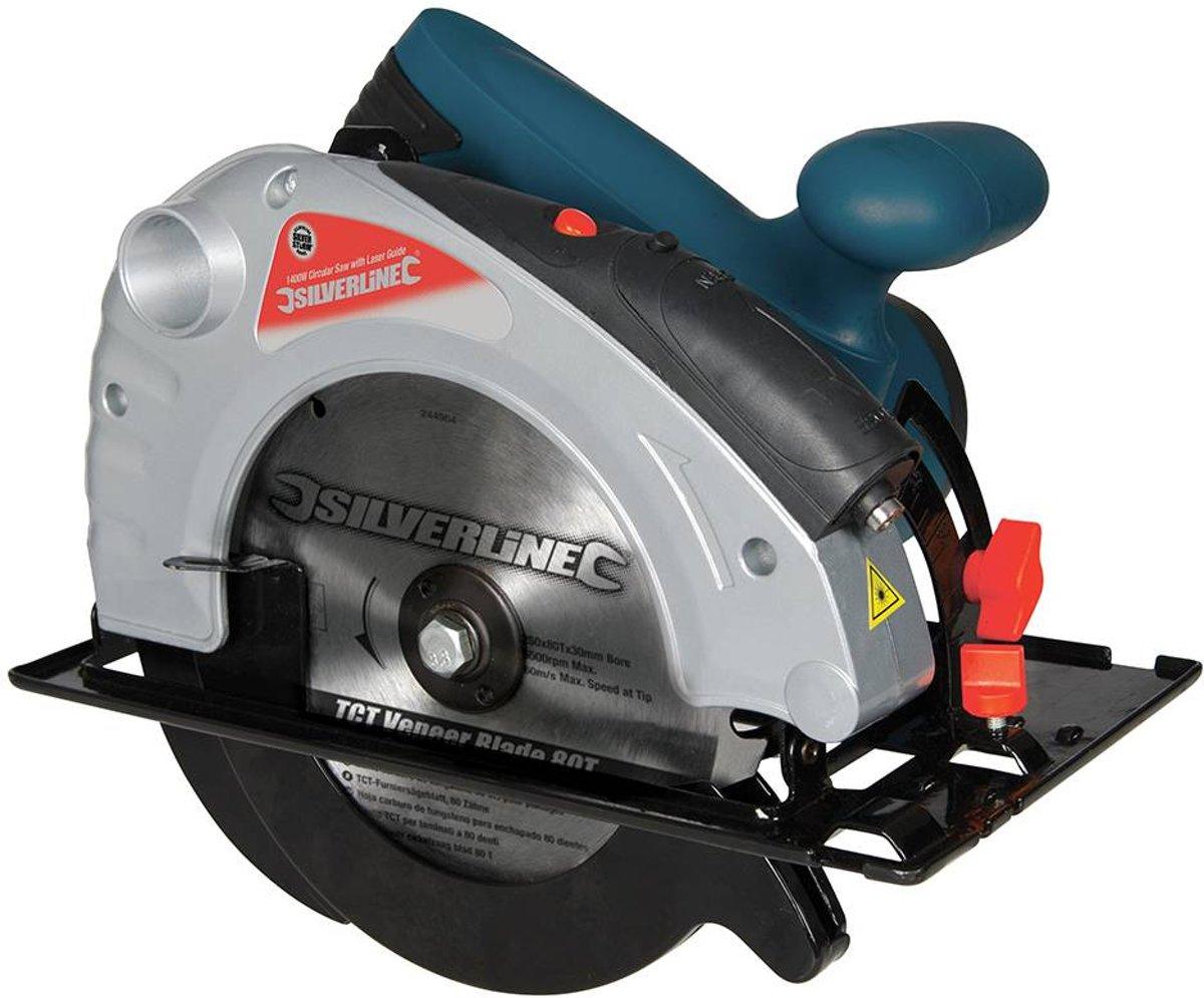 Silverline 1300 W Silverstorm cirkelzaag met lasergeleider, 185 mm