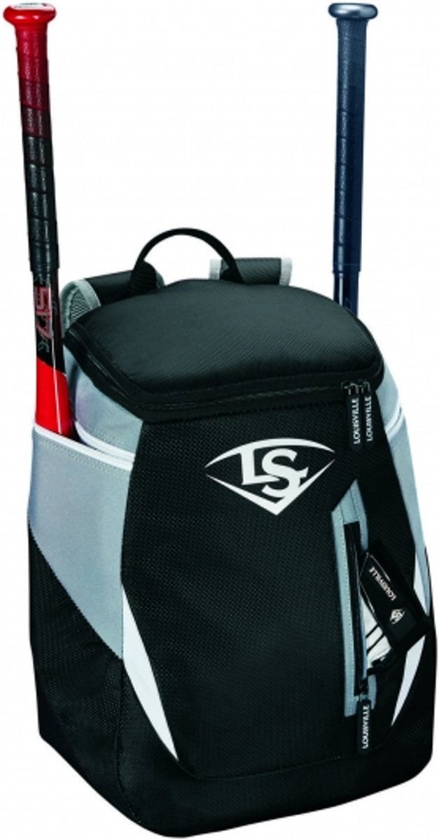 Louisville Genuine Baseball/Softball Stick Backpack - Black - One Size